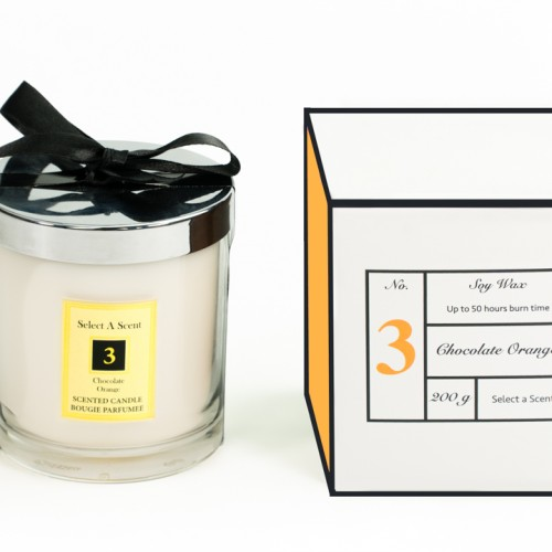 Chocolate Orange - Glass Candle Jar