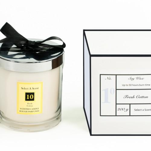 Fresh Cotton - Glass Candle Jar