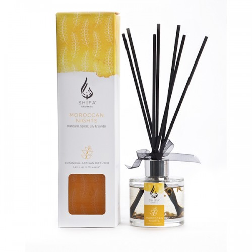 Moroccan Nights. Mandarin, Spices, Lily & Sandal - Reed Diffuser