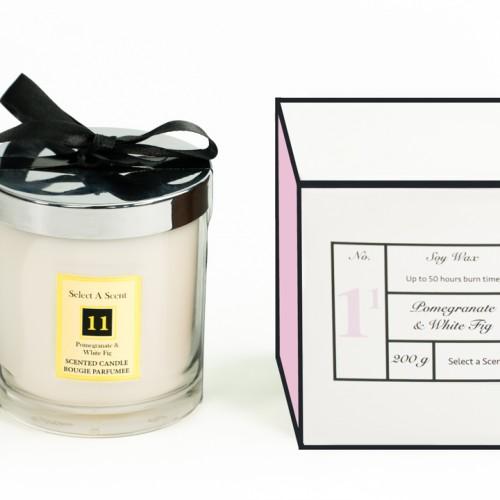 Pomegranate & White Fig - Glass Candle Jar