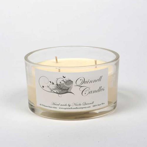 Crackling Log - Large Candle Glass