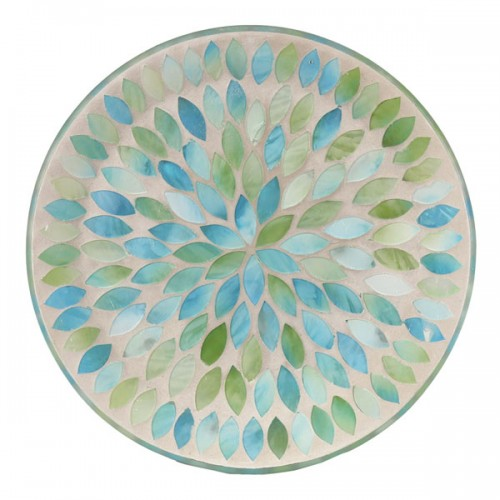 Candle Plate, Mint Green Petal