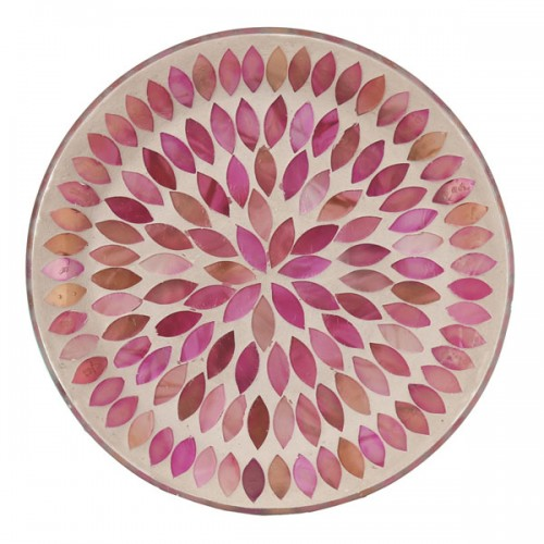 Candle Plate, Pink Petal