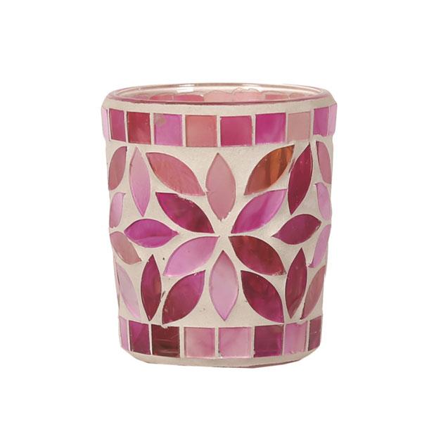 Tea Light Votive Holder, Pink Petal