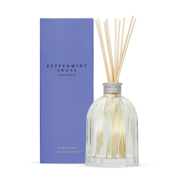 Sandalwood & Vetiver - Medium Reed Diffuser