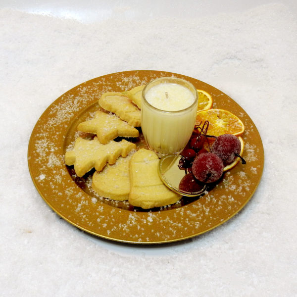 Christmas Sugared Shortbread - Choose Your Candle Type